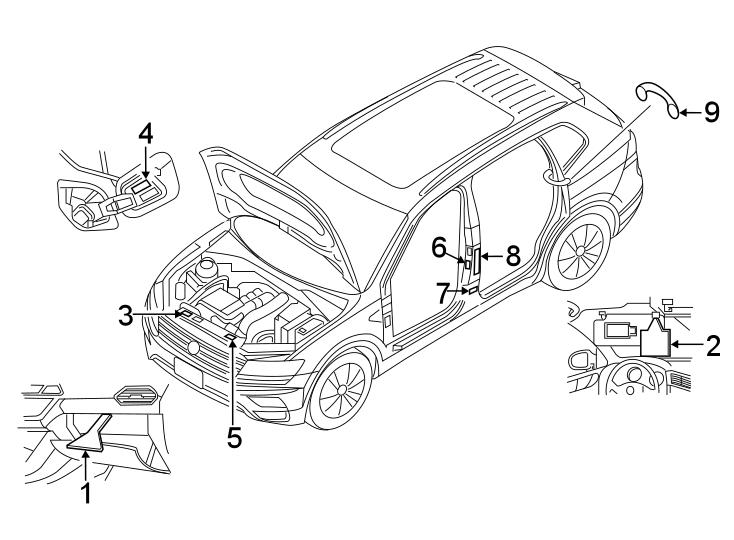 Volkswagen Tiguan Label. Tire. Spare tire. Engine Decal