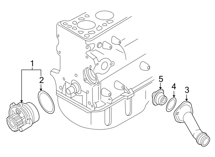 Volkswagen Passat Wagon Engine Coolant Thermostat. Audi