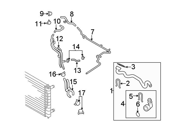 Volkswagen Passat Radiator Coolant Hose. 2.0 LITER, FEED