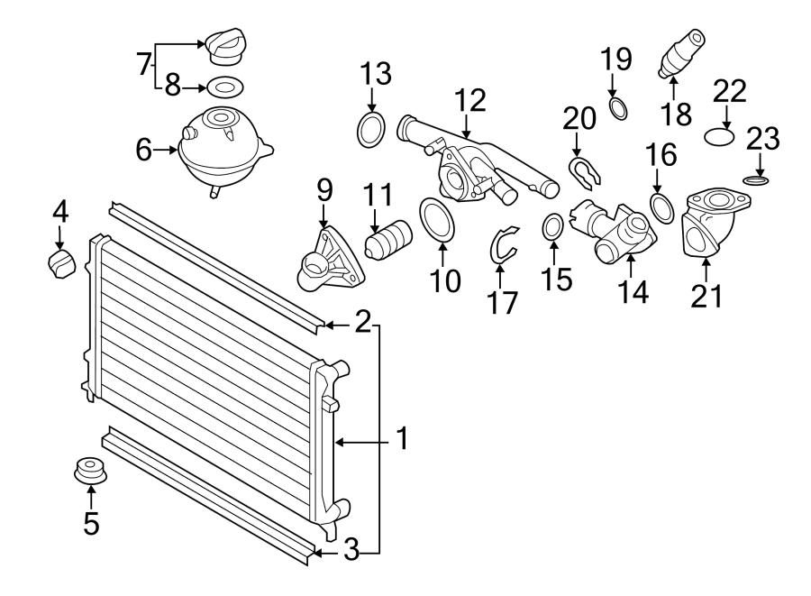 Volkswagen CC Radiator Air Seal (Upper, Lower). LITER