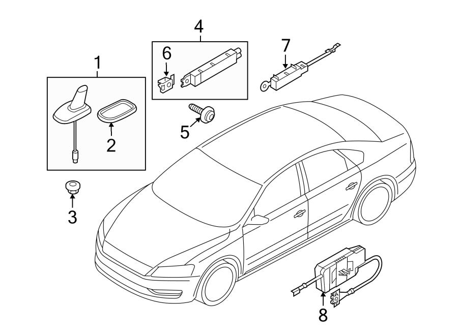 Volkswagen Beetle Convertible Antenna. RoofAERIAL