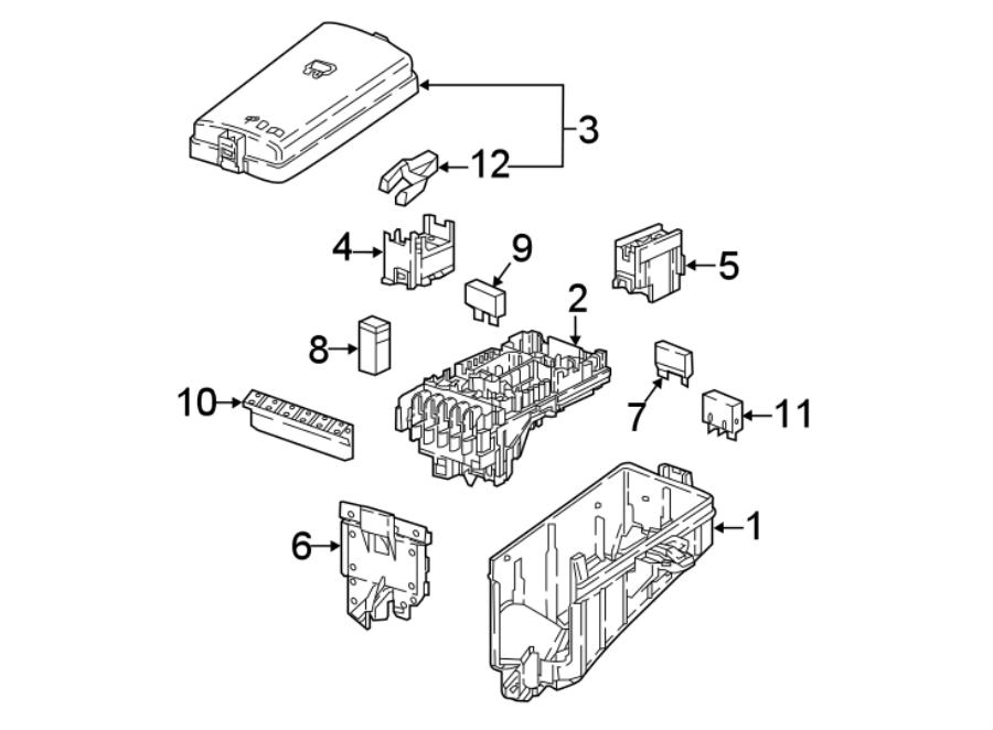 Volkswagen Atlas Fuse Box Cover. COMPARTMENT, ENGINE