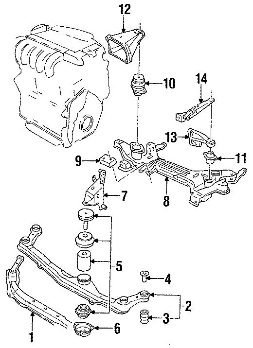 Volkswagen Jetta Manual Transmission Mount Bracket. 2.0