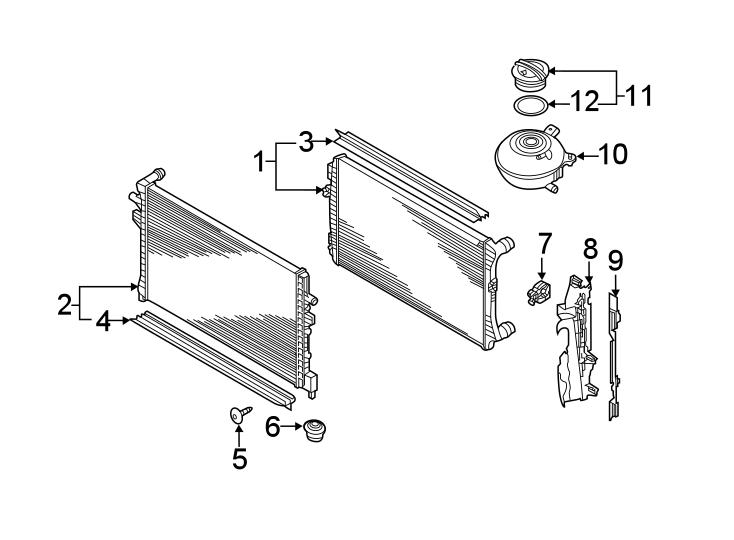 Volkswagen Golf Radiator Air Seal. Cooling, ENGINE