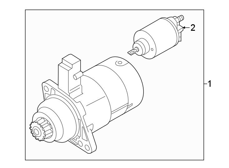 Volkswagen Golf Starter Motor. Trans, Auto, DENSO