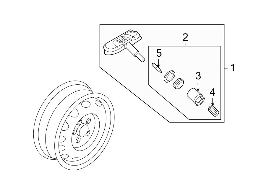 Volkswagen Golf Tire Pressure Monitoring System Sensor