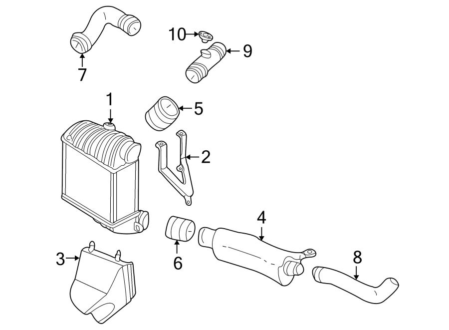 Volkswagen Golf Chargetube. Engine air intake hose