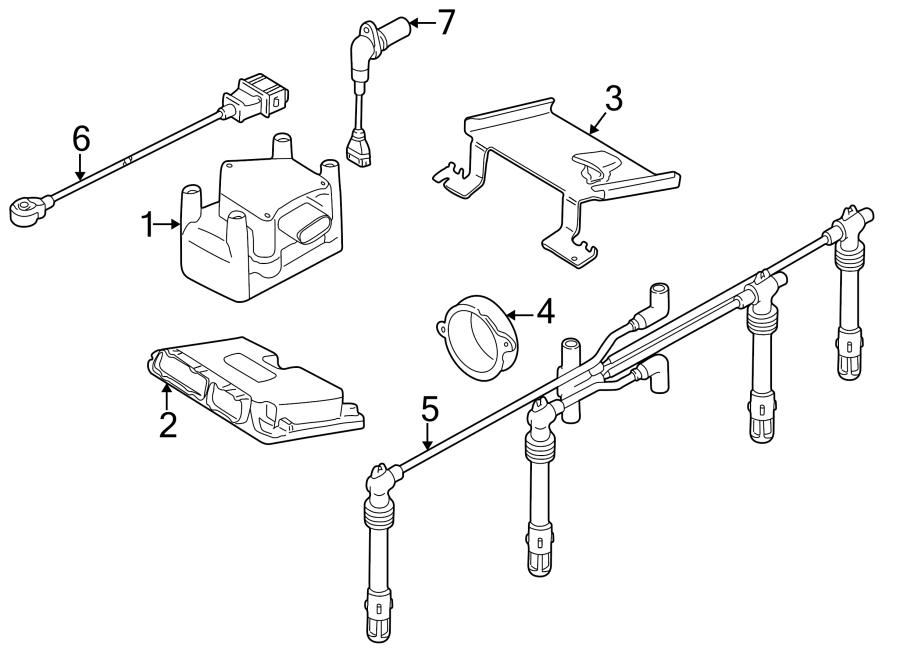 Volkswagen Golf Spark Plug Wire. Cylinder, Liter, IGNITION