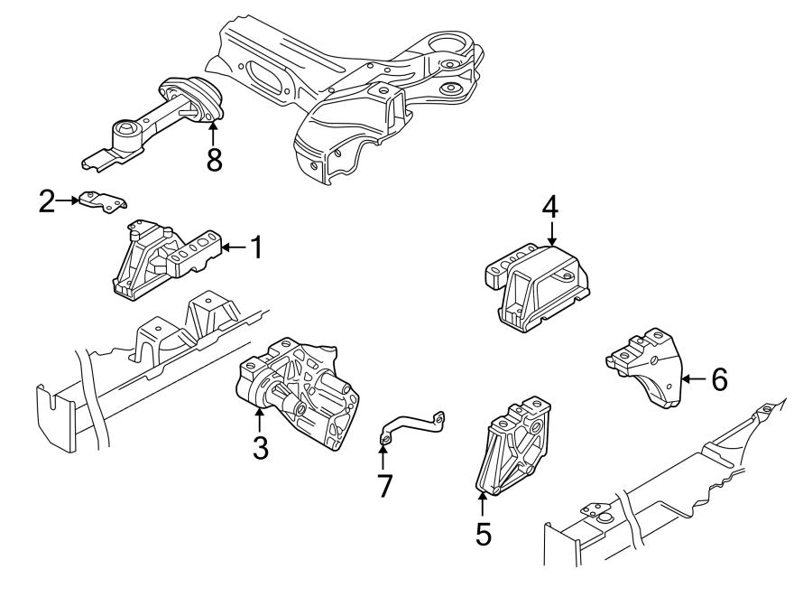 Volkswagen Golf Mount. Engine. Support. Plate. LITER, Side