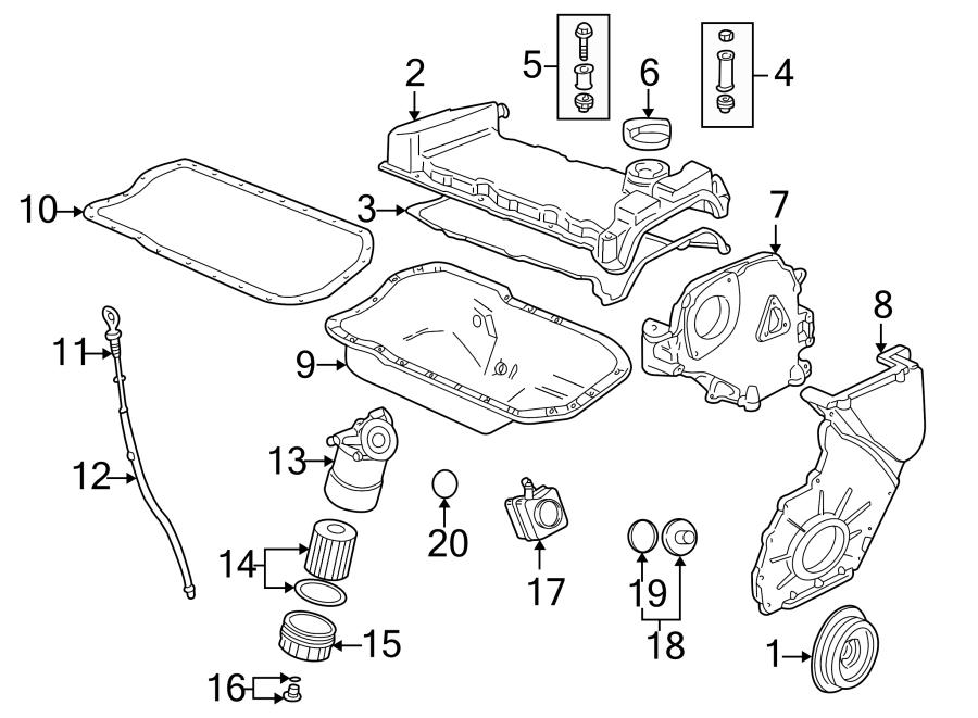 Volkswagen Golf Engine Oil Filter Housing Cover. OIL