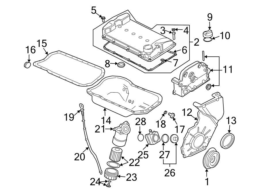 Volkswagen Cabrio Plug. Drain. Washer. Engine. Seal. 2.8