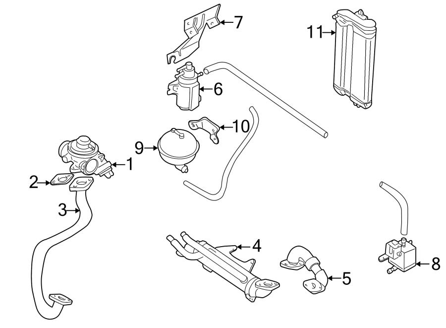 Volkswagen Golf Egr valve. Emission, make, liter