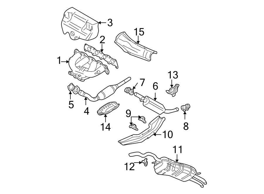 Volkswagen Jetta Exhaust Muffler (Rear). Jetta; Rear; 1.8L