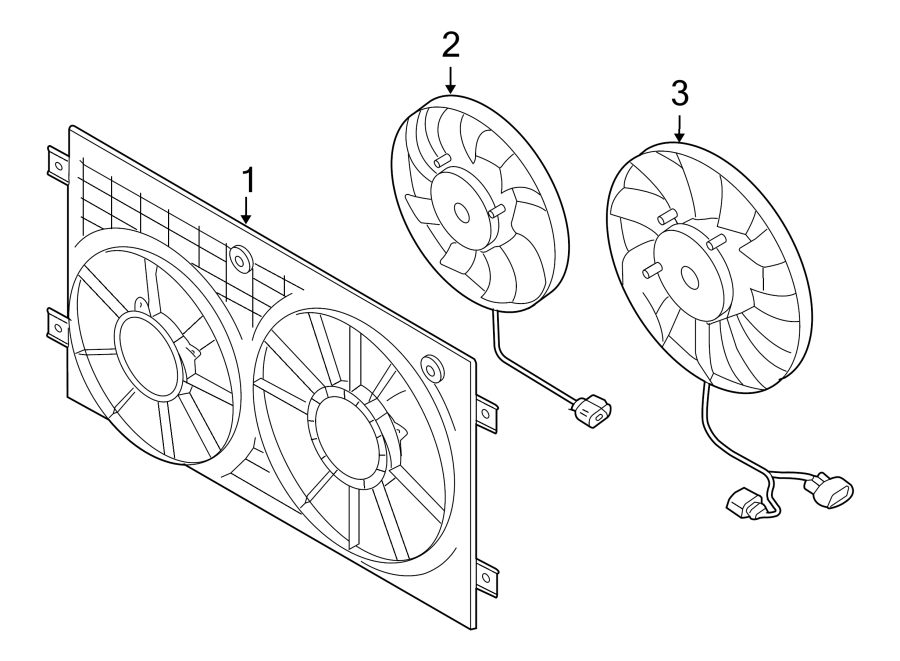 Volkswagen Jetta Engine Cooling Fan Motor. Left, LITER