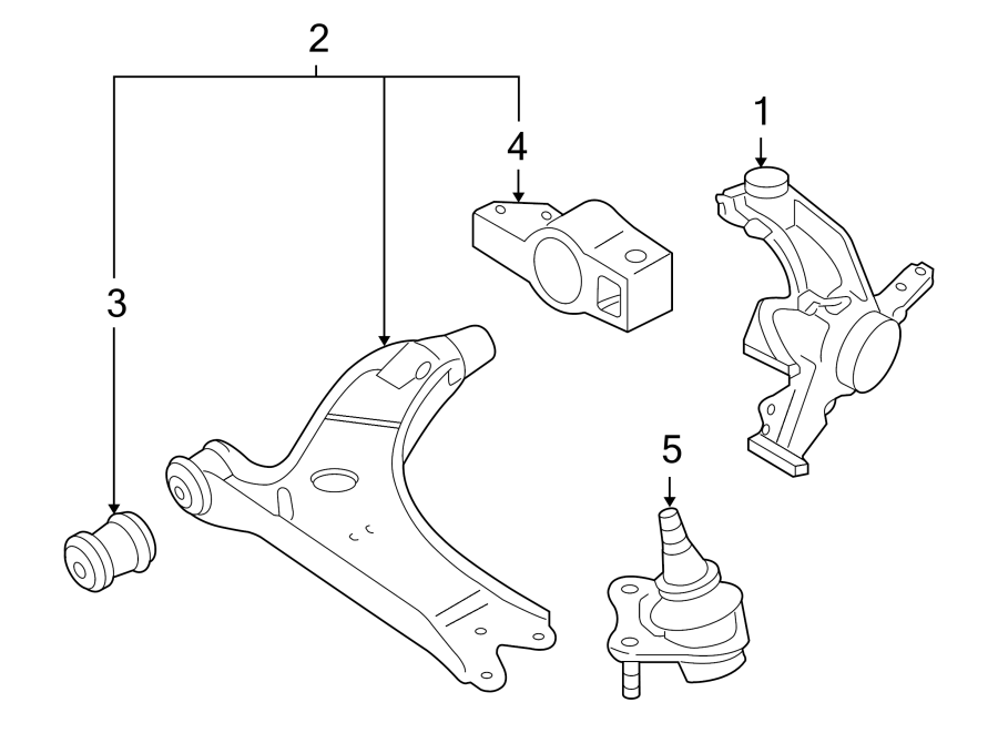 Volkswagen Jetta Steering Knuckle. Carrier, Caliper