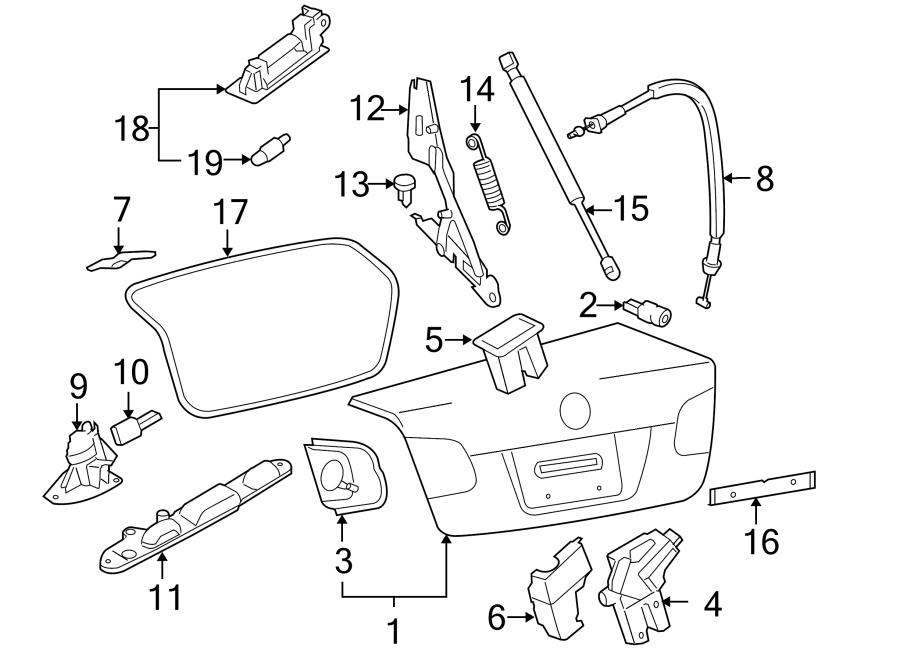 Volkswagen Jetta GLI Deck Lid Lock. Key, WAGON, Cylinder