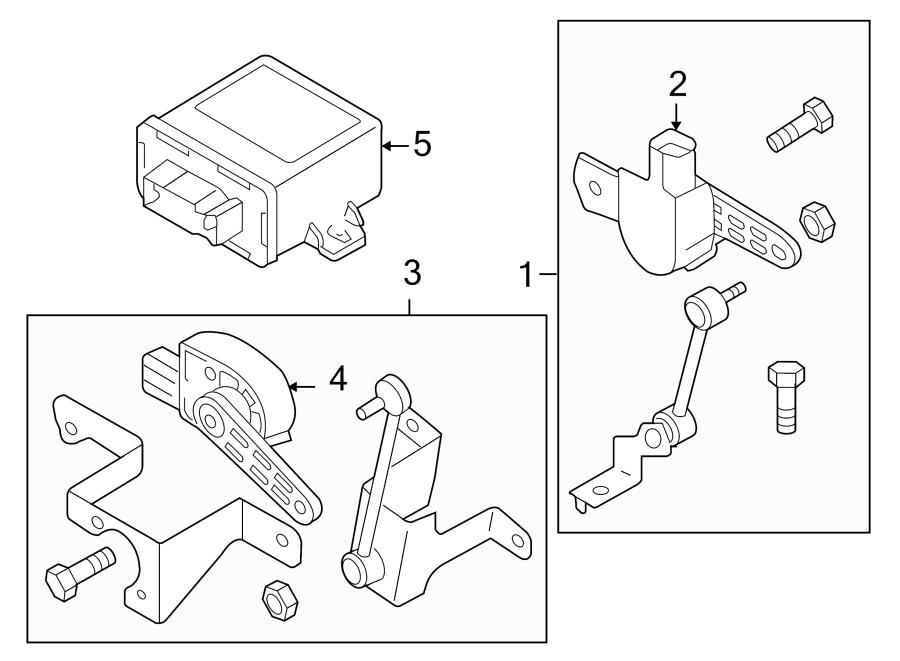Volkswagen Rabbit Headlight Level Sensor (Front, Rear