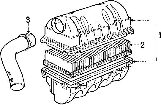 Volkswagen Vanagon Air Filter. CYLINDER, VALVE, Engine