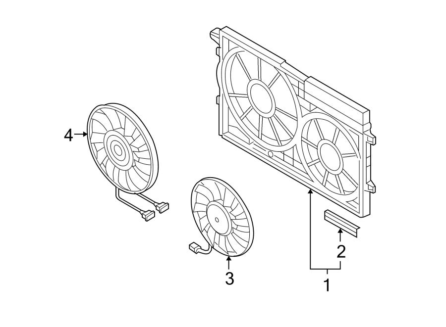 Volkswagen R32 Engine Cooling Fan Shroud. LITER, DIESEL