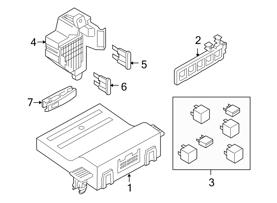 Volkswagen GTI Diagnostic Test Connector. PASSENGER