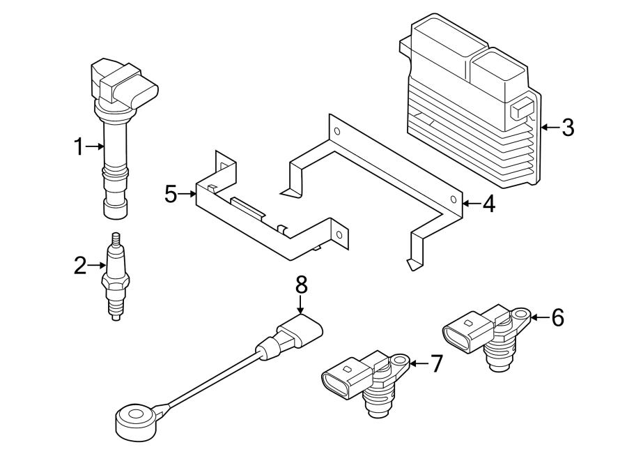 Volkswagen Jetta Engine Control Module Bracket. LITER, Gas