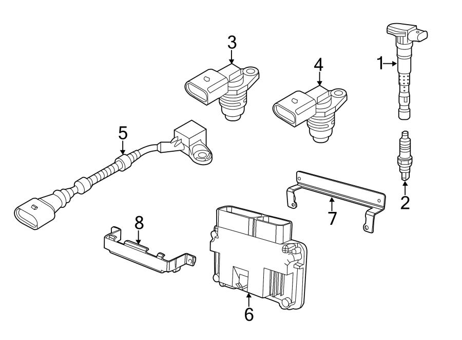 Volkswagen Jetta Engine Control Module. Auto, Trans, SULEV