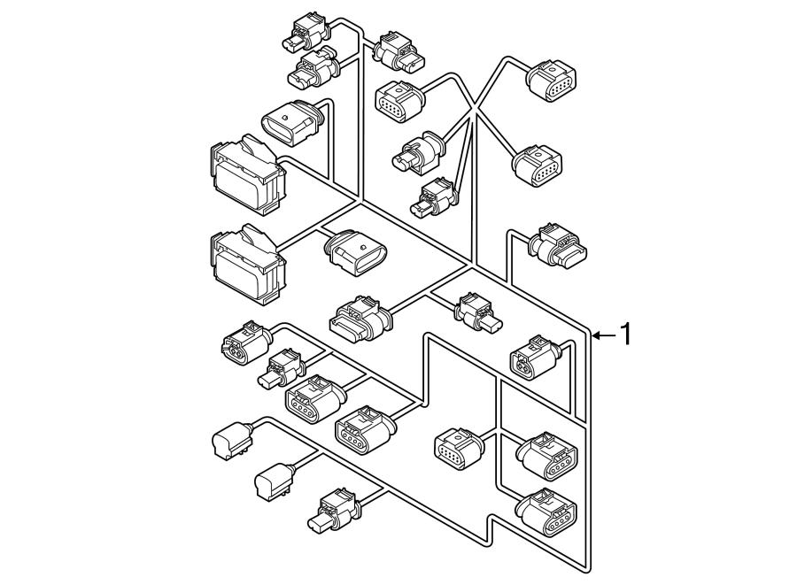Volkswagen Jetta Engine Wiring Harness. 1.8 LITER, auto