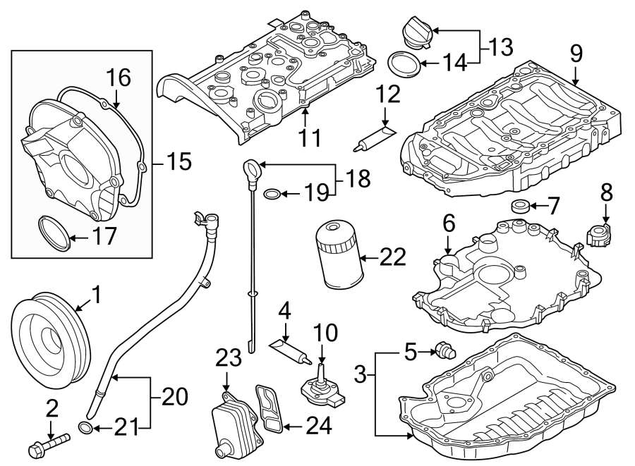 Volkswagen Jetta GLI Engine Timing Cover. LITER, GAS