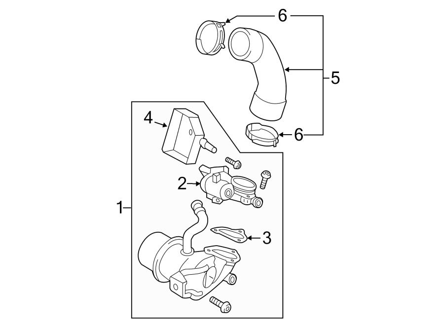 Volkswagen Jetta Egr valve control solenoid gasket. Egr