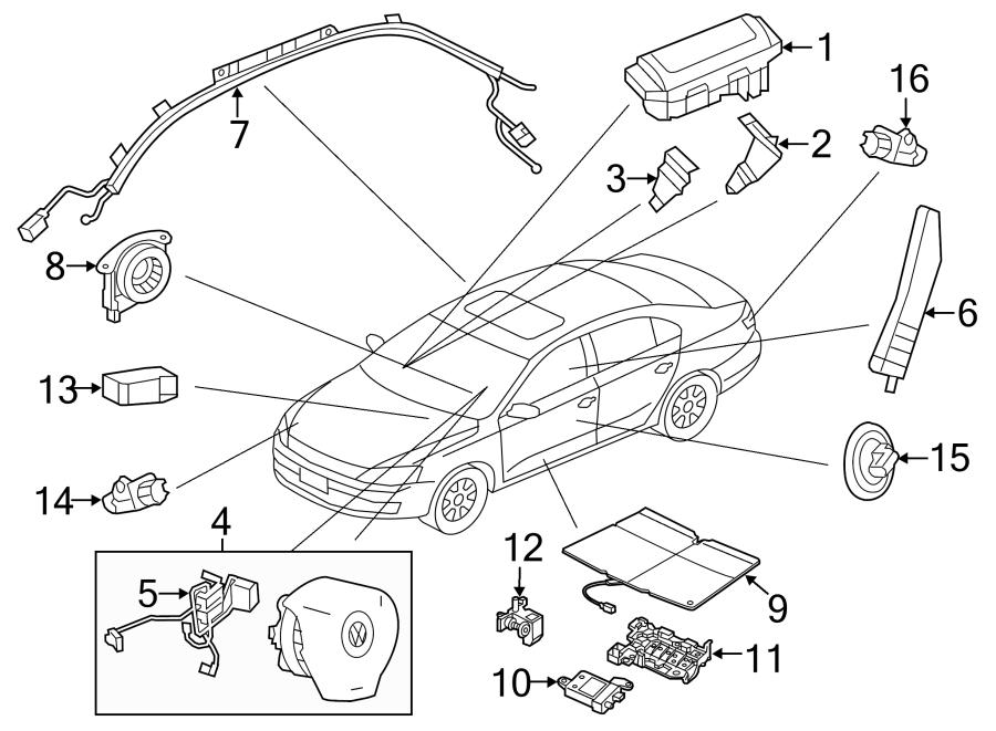 Volkswagen Jetta GLI Air Bag Wiring Harness. AIR BAGS. AIR