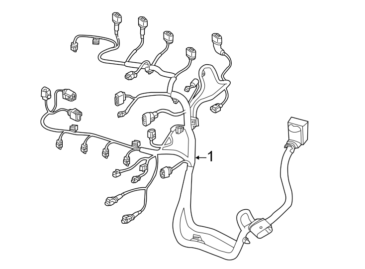 Volkswagen Jetta Engine Wiring Harness. 1.4 LITER, manual