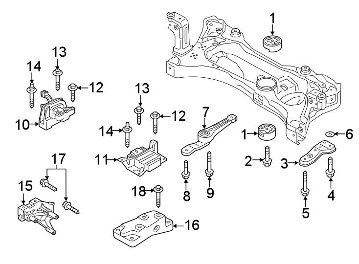 Volkswagen Jetta GLI Engine Mount Support Bracket. 1.4