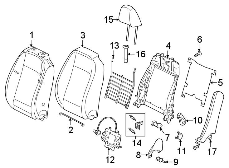 Volkswagen Jetta Seat Wire. SEAT BACK COMPONENTS