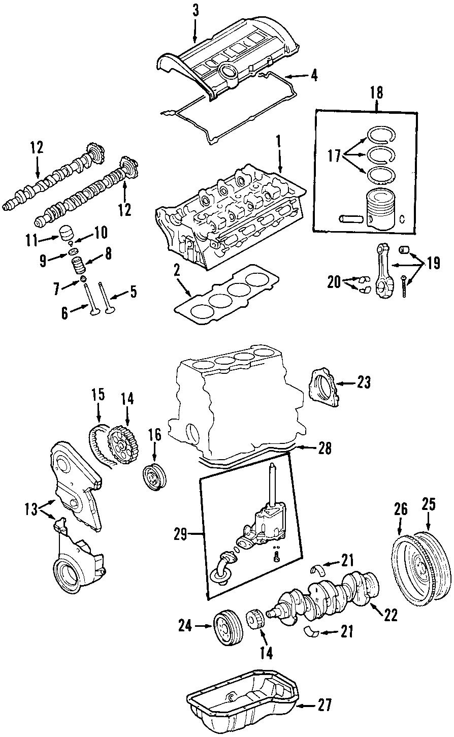 Volkswagen Jetta Engine Valve Spring. Exhaust, BEARINGS