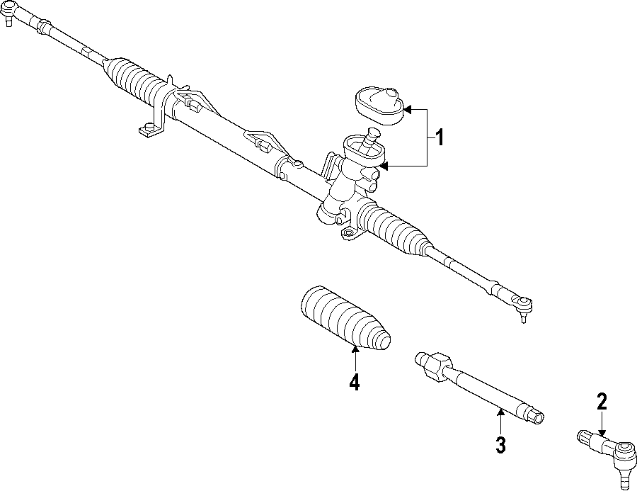 Volkswagen Passat Rack and Pinion Assembly. STEERING GEAR