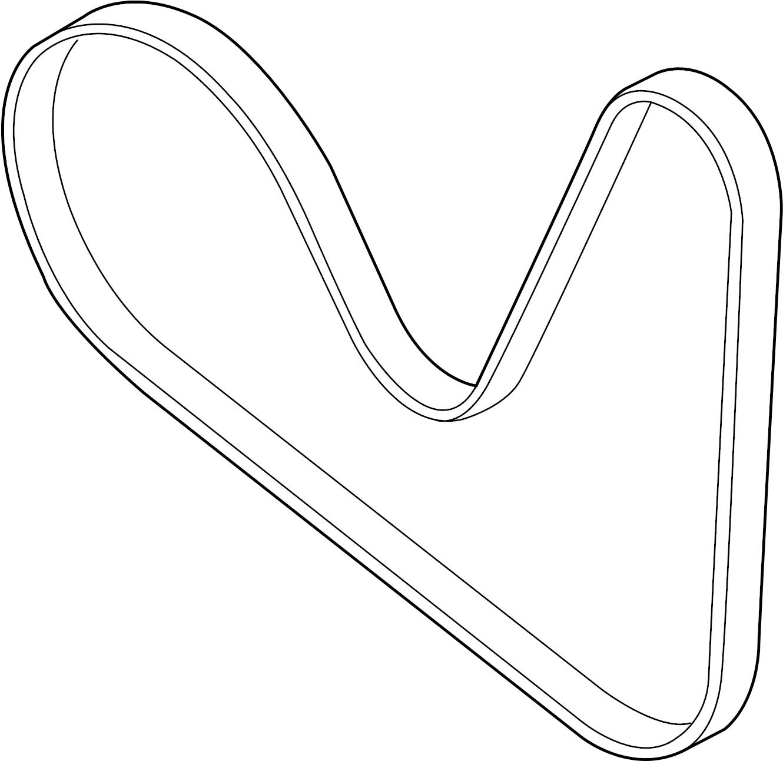 Volkswagen Jetta GLI Serpentine Belt. CODE, ENGINE, LITER