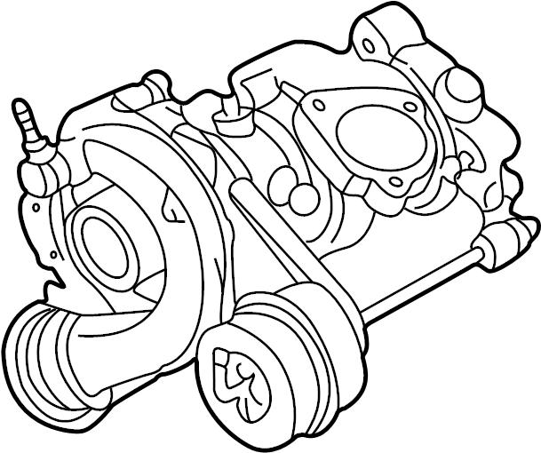 Volkswagen Passat Wagon Turbocharger. Turbocharger. Engine