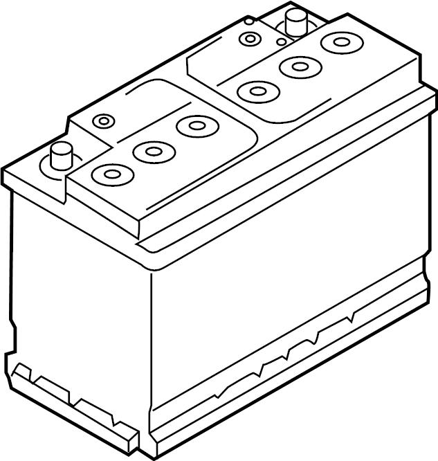 Volkswagen Tiguan Vehicle Battery. Amp, Hour, Conventional
