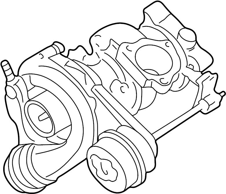 Volkswagen Jetta Turbocharger. New, LITER, ENGINE