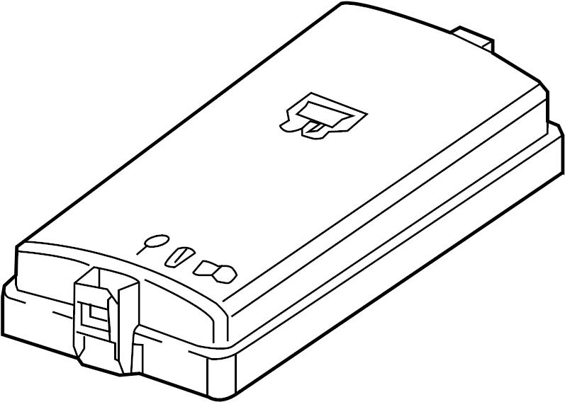 Volkswagen Atlas Fuse Box Cover (Upper). Compartment