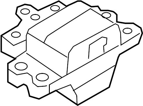 Volkswagen Tiguan Automatic Transmission Mount. Gear