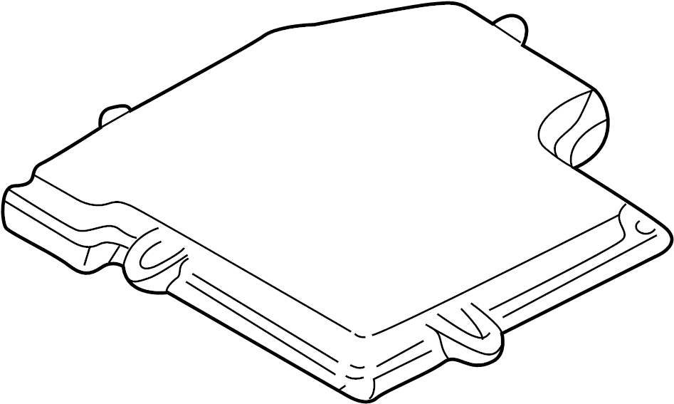 Volkswagen Passat Ecm cover. Engine control module cover