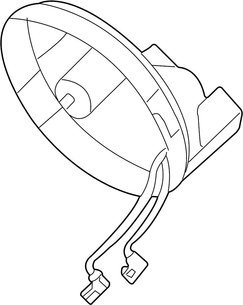 Volkswagen Beetle Fog Light Cover (Rear). 1998-05. 2003-05