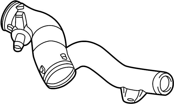Volkswagen Beetle Connector pipe. Convertible, 2.0 LITER