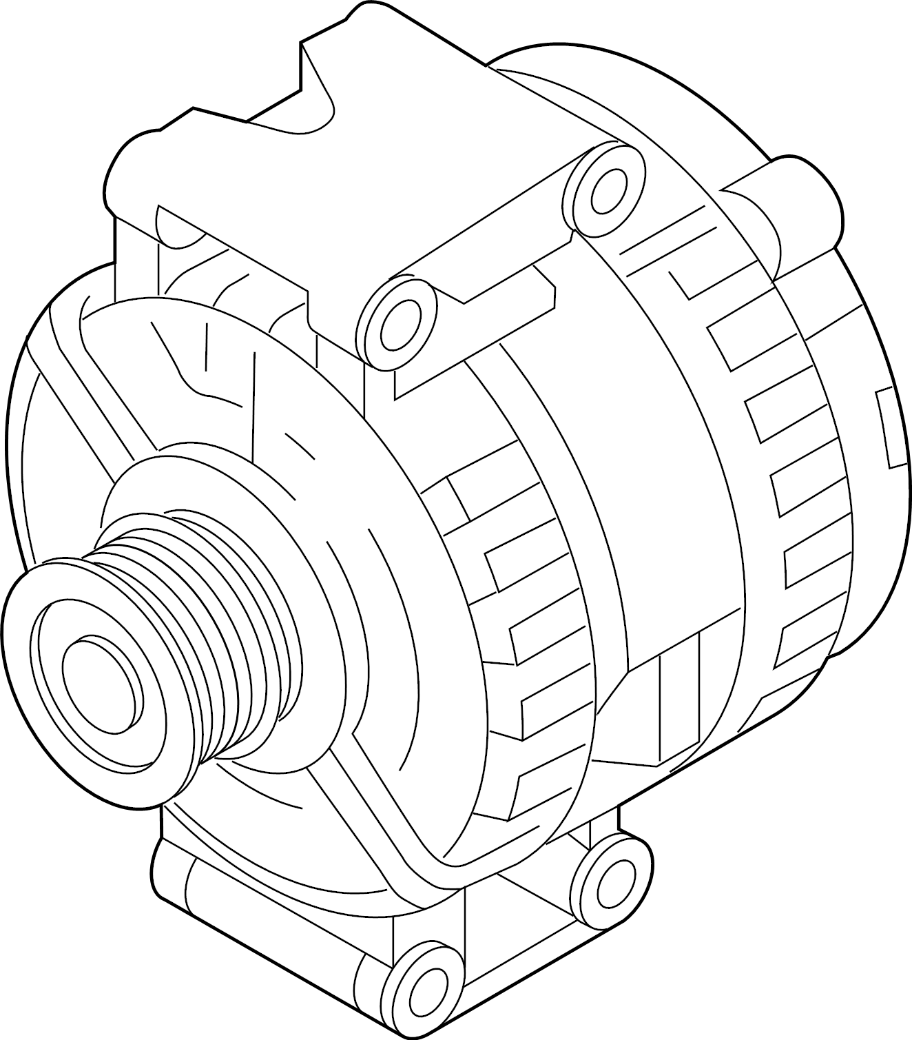 Volkswagen SportWagen Alternator. New, Bosch, LITER