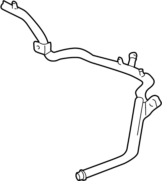 Volkswagen Cabrio Engine Coolant Bypass Hose. Cooling