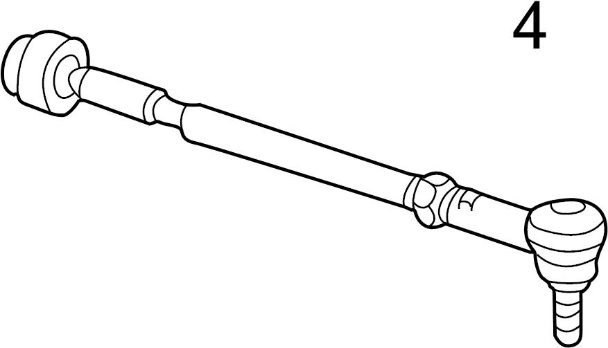Volkswagen Passat Wagon Steering Tie Rod End. Right, Outer