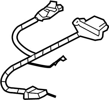 Volkswagen Touareg Steering Wheel Wiring Harness. TRIM