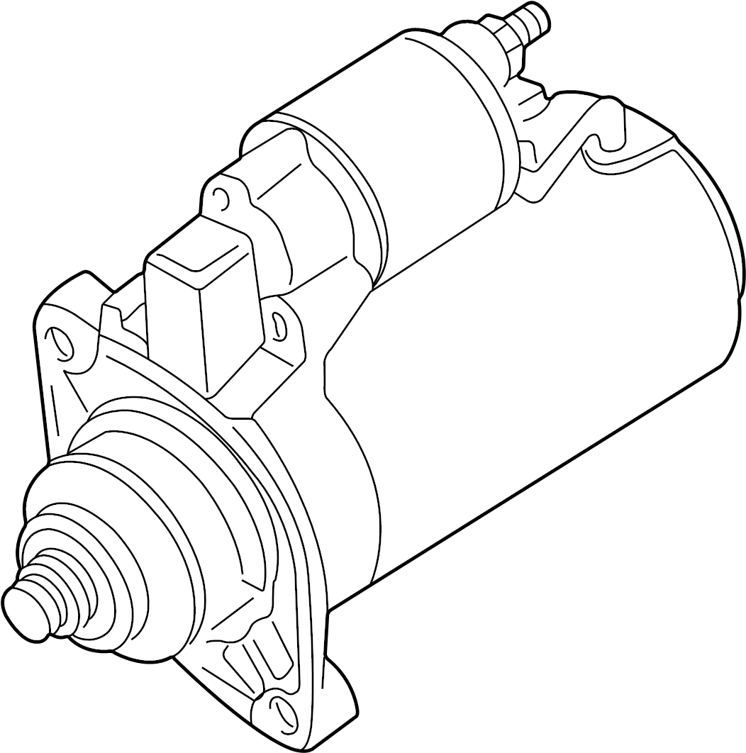 Volkswagen Passat Wagon Starter Motor. Trans, Front