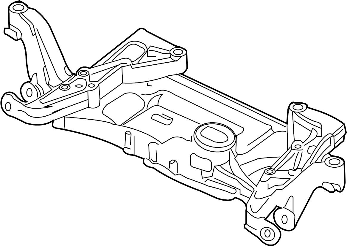 Volkswagen Passat Wagon Crossmember Engine Cradle Sub